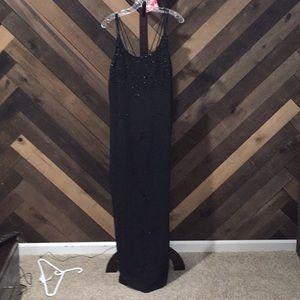 Onyx black maxi dress